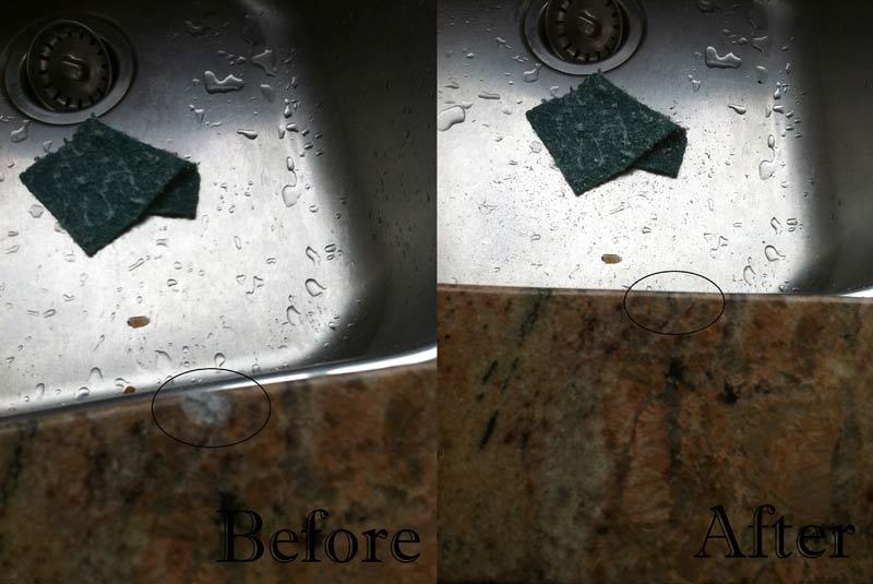 Quartz Countertop Edge Chip Repair : ... countertop crack granite countertop chip granite countertop chip