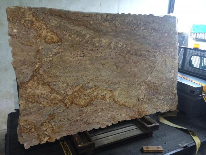 Yellow Moon Granite Slab : Granite countertops vi nanaimo