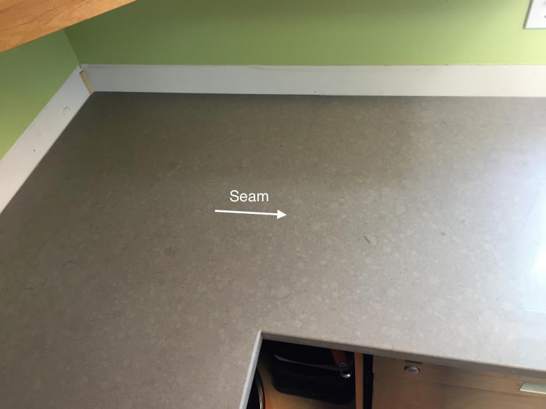 quartz countertop seams cooktop quartz countertop seam the