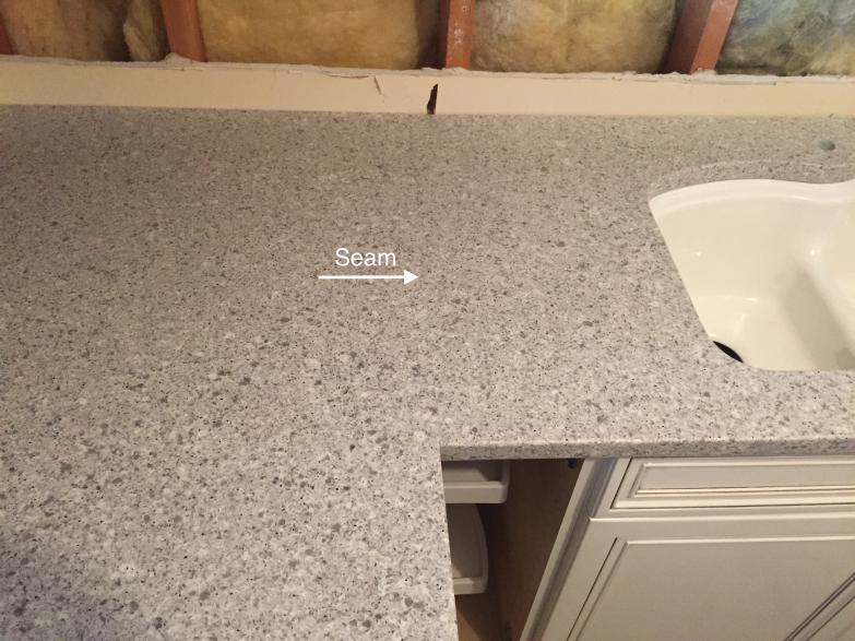 The perfect seam custom granite quartz countertops for Seamless quartz countertops