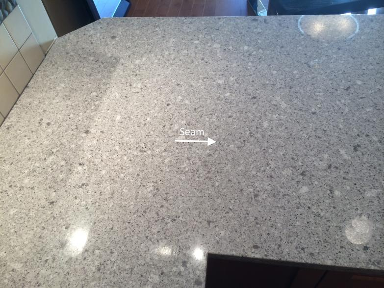white quartz countertop seams the quot quot seam custom granite amp quartz countertops 361